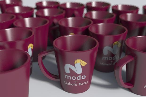 modo701ではじめて作ったカップ